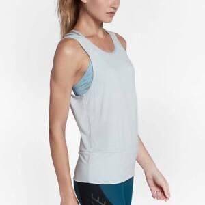 Nike Dry 904460 Women S Open Back Studio Tank Top Gym Training Tennis Yoga Ebay