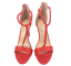 thumbnail 5 - Womens Ladies Red Faux Suede High Heel Party Sandals Shoes Size UK 4 5 6 7 8 New