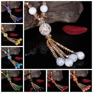 1Pc-Women-Glass-Bead-Ethnic-Charm-Couple-Tassel-Pendant-Necklace-Jewelry-Decor
