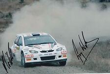 Guy Wilks and Phil Pugh Hand Signed 12x8 Photo Proton Satria Rally.
