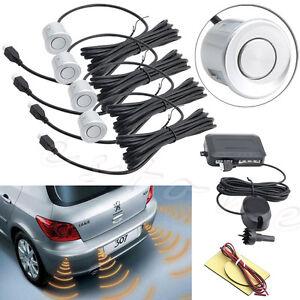 Details about Parking 4 Sensors Car Reverse Backup Rear Buzzer Radar System  Sound Alarm Silver