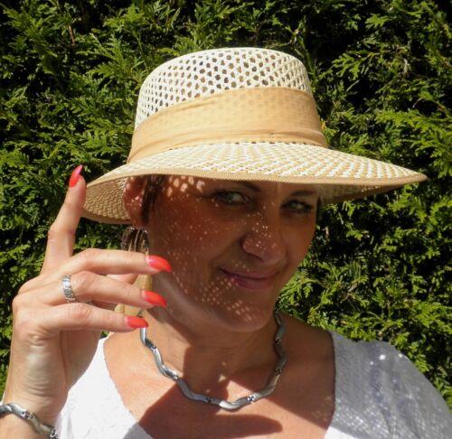 Femmes Chapeau de paille école 2 couleurs été tradi damenhüte Vacances Jardin Soleil