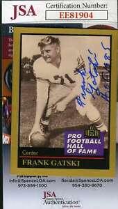Frank-Gatski-1991-Enor-Hall-Of-Fame-Jsa-Coa-Hand-Signed-Authentic-Autograph