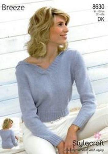 Stylecraft Breeze Hooded Sweater Pattern 8630