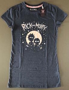 newest 35d72 997db Details zu Rick and Morty Damen Nachthemd Kurzarm T-Shirt Schlafshirt  Bigshirt Comic Pyjama