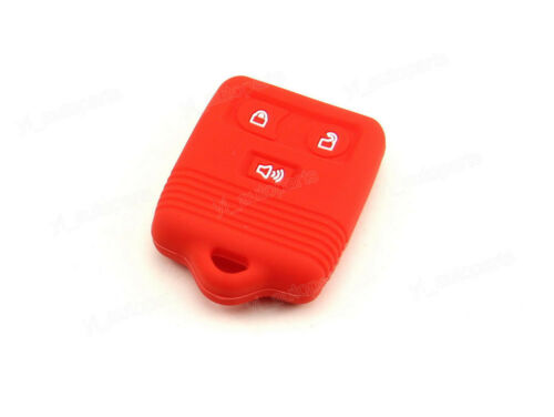 Red Silicone Case Cover For Ford Mercury Mazda Lincoln Remote Key 3 Buttons 3BT