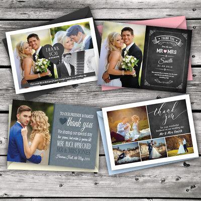 Sensibile 50 X Matrimonio Personalizzati Ringraziamenti Con Foto + Tempo Limitato Solo £ 15.99-mostra Il Titolo Originale