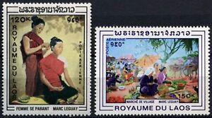 Laos-1969-SG-277-8-Set-D58941-dipinti-Gomma-integra-non-linguellato