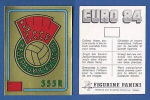 SCUDETTO-CALCIATORI-PANINI-EURO-84-NUOVO-NEW-N-255-CCCP