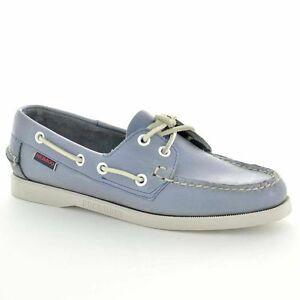 Sebago Women's Docksides Metallic Blue B413103 Boat Shoe Sizes 6-10 like sperry