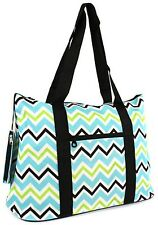Chevron Canvas Tote Bag Weekender Beach Gym Diaper Teacher Nurse Handbag Purse