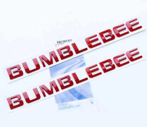 2x OEM Red BUMBLEBEE Nameplate Emblem Badge for Camaro GM Silverado  Ford W2U