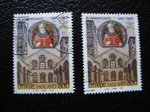 Vatican-Stamp-Yvert-and-Tellier-N-1083-x2-Obl-A28-Stamp-A