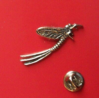 English Pewter MAYFLY Pin Badge Tie Pin / Lapel Badge  C20