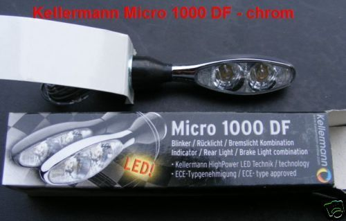 2x Kellermann flasher parking light Micro 1000 PL, chrome, 141.100, new