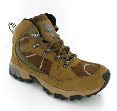 Northwest Tan Brown Suede Leather Womens Hiking Waterproof Boots Shoes UK48