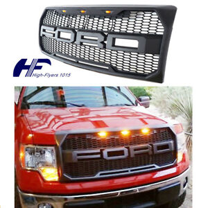 For 2009 2014 Ford F150 Front Grill Raptor Style Conversion F R