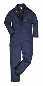 Portwest Orkney Lined Coverall Overall Liner Winter Thermal Boilersuit S816