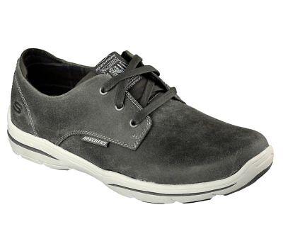 New Mens Skechers Relaxed Fit Palen Tiago Shoe Style 64631 Black 116D pr