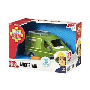 Fireman-Sam-Toy-Mikes-Van-Push-Along-Free-Wheeling-Vehicle-Toy-NEW-BOXED