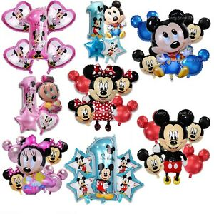 Disney-Mickey-Minnie-Mouse-Birthday-Balloon-Foil-Latex-1st-Birthday-Baby-Shower