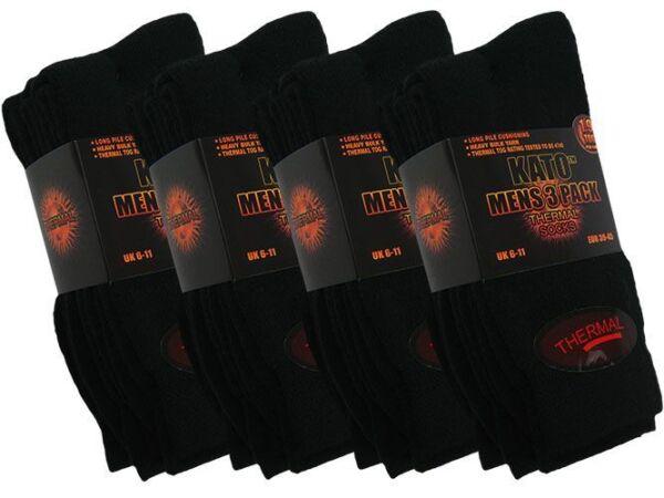 6 Da Uomo Kato ™ Cotone Rich Termico 1.9 Tog Invernale Socks Nero/assortiti Uk 6-11