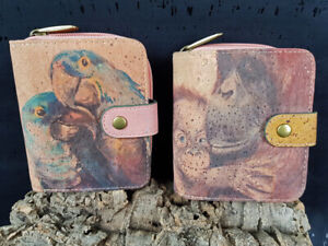 Damen-Portemonnaie-Geldboerse-Geldbeutel-Kork-gross-Portmonee-RFID-vegan-Eco-Peta