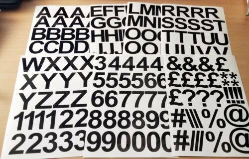 5cm 25 Colours 50mm 2 Inch Self Adhesive Vinyl Sticker Letters and Numbers