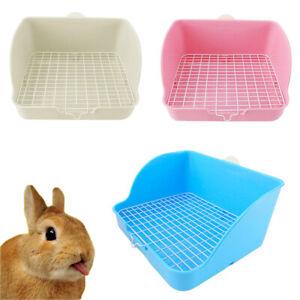 Pet-Corner-Litter-Mesh-Toilet-Loo-Potty-Trays-For-Rabbit-Guinea-Pig-Hamster-DG