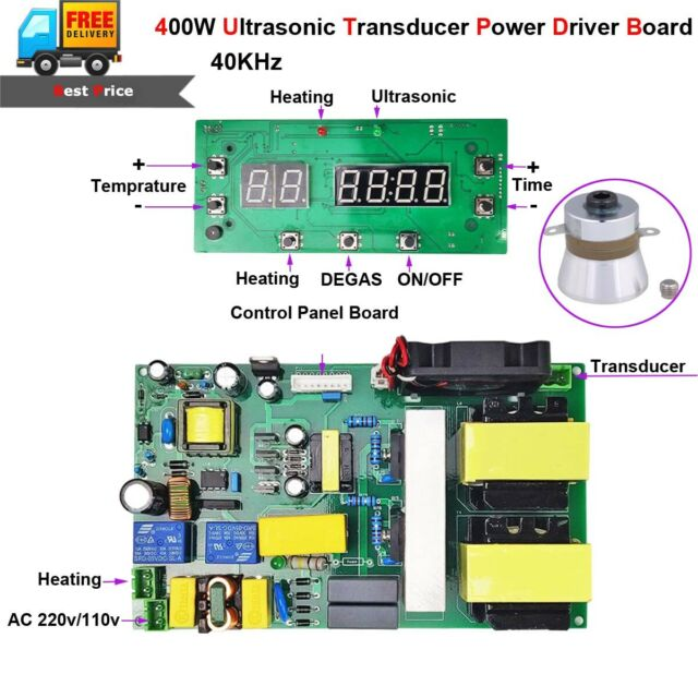 400W 40KHz Ultrasonic Cleaning Transducer Power Driver Board Cleaner +  Heating