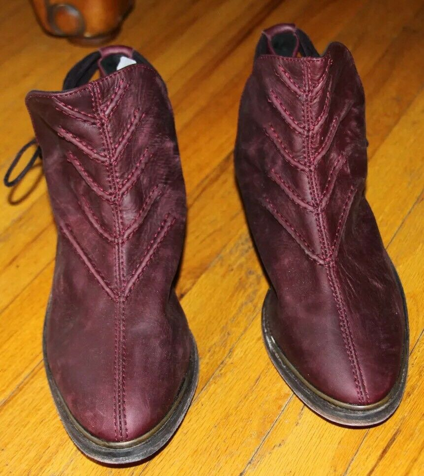 Free People Burgundy Farbe Southern Cross Ankle Stiefelie SZ 41