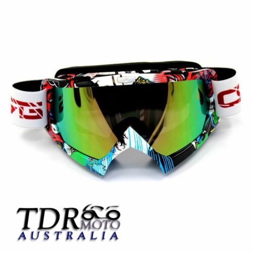 Graffiti Frame Ski Outdoor Sport Antifog Snow Goggles UV Protect Tinted LEN