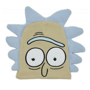 OFFICIAL RICK AND MORTY - RICK BIG FACE COSTUME STYLED BEANIE HAT ... d422b3985a4