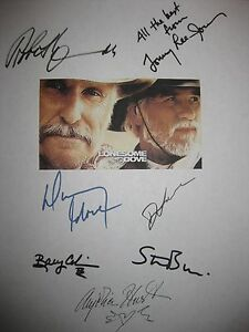 Lonesome Dove Signed TV script X7 Robert Duvall Tommy Lee Jones Diane Lane repnt