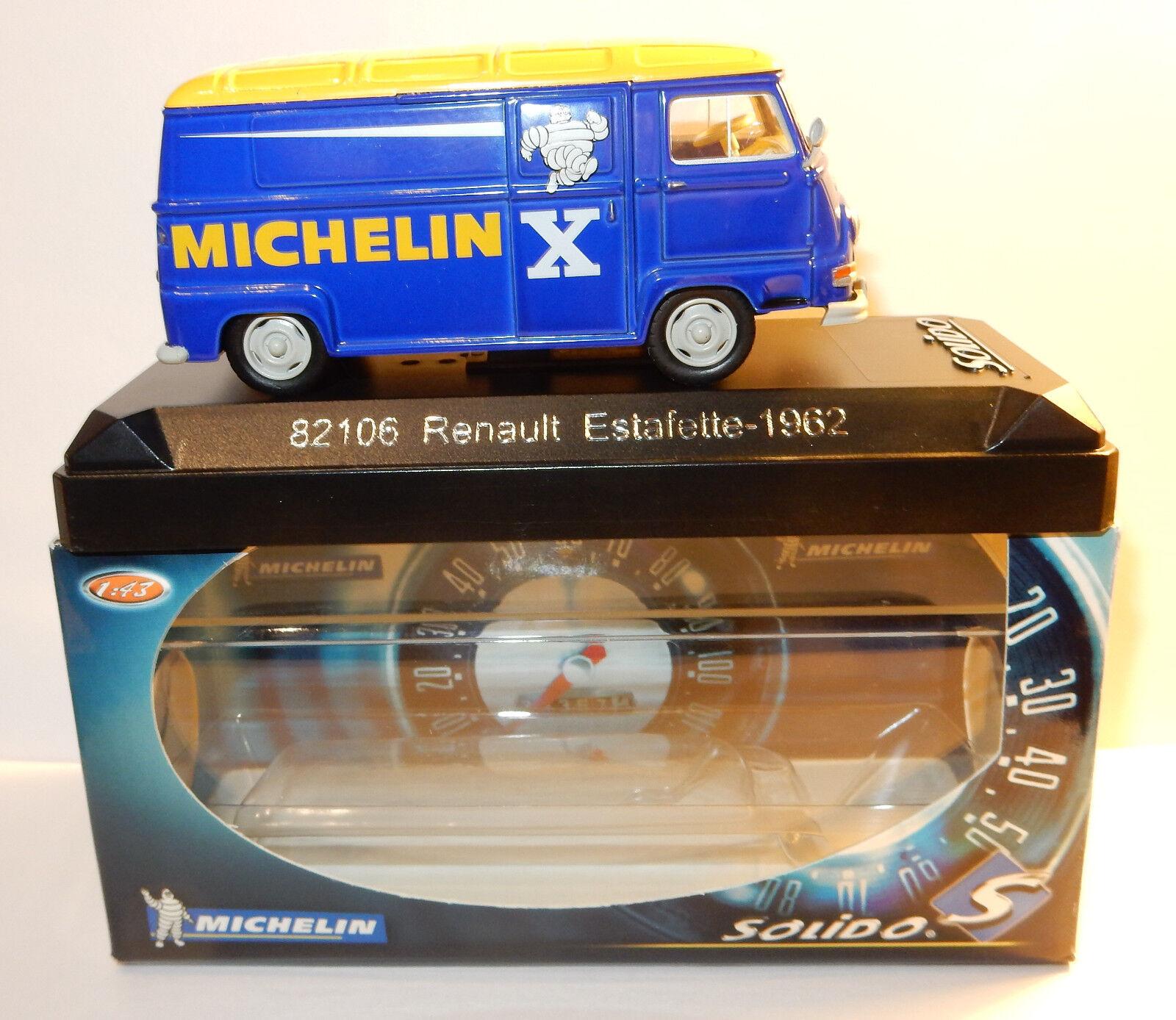 Rare SOLIDO RENAULT ESTAFETTE 1962 MICHELIN 1 43 REF 82106 IN BOX