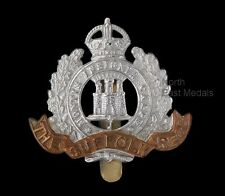 Suffolk Regiment cap badge King's crown, bi-metal