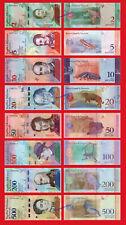 VENEZUELA FULL SET 2 5 10 20 50 100 200 y 500 Bolivares soberanos 2018 SC / UNC