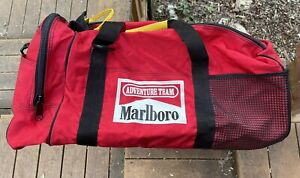Vintage Marlboro Adventure Team Duffle Bag Red Large 90s Cigarettes Promo Smoke