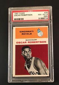 1961-Oscar-Robertson-Fleer-RC-Card-36-NM-MT-OC-Rookie-Rare-PSA-8