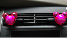 Mickey Mouse Shape Car Air Freshener Auto Perfume Diffuser Fragrance Pink NEW