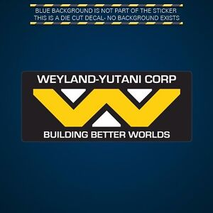 Weyland Yutani Corp Sticker Multicolor Decal Adhesive
