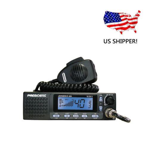 "PRESIDENT ELECTRONICS /""JOHNSON II USA/"" CB RADIO 12//24V"