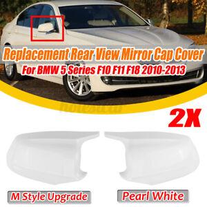 Bianco-Retrovisore-Specchietto-Laterale-Cover-Per-BMW-F10-F11-5-Serie-M-Sport