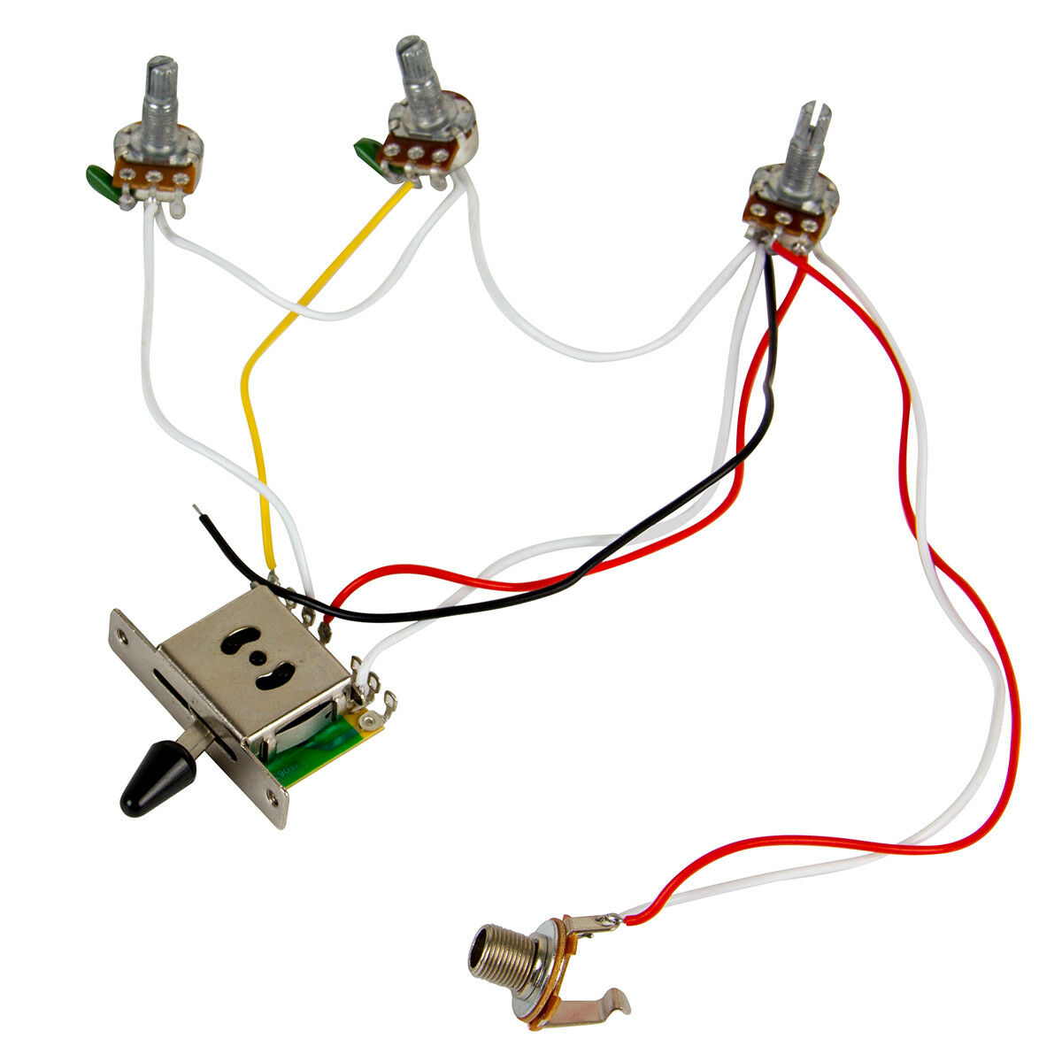 Guitar Wiring Harness Kit 5 Way Switch 500k Pots For Fender Gretsch Tone And Knob Besides Control Description
