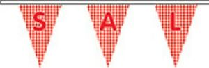 RéAliste Sale Now On Pattern Triangular Superior Polyester Bunting - 10m With 24 Flags *
