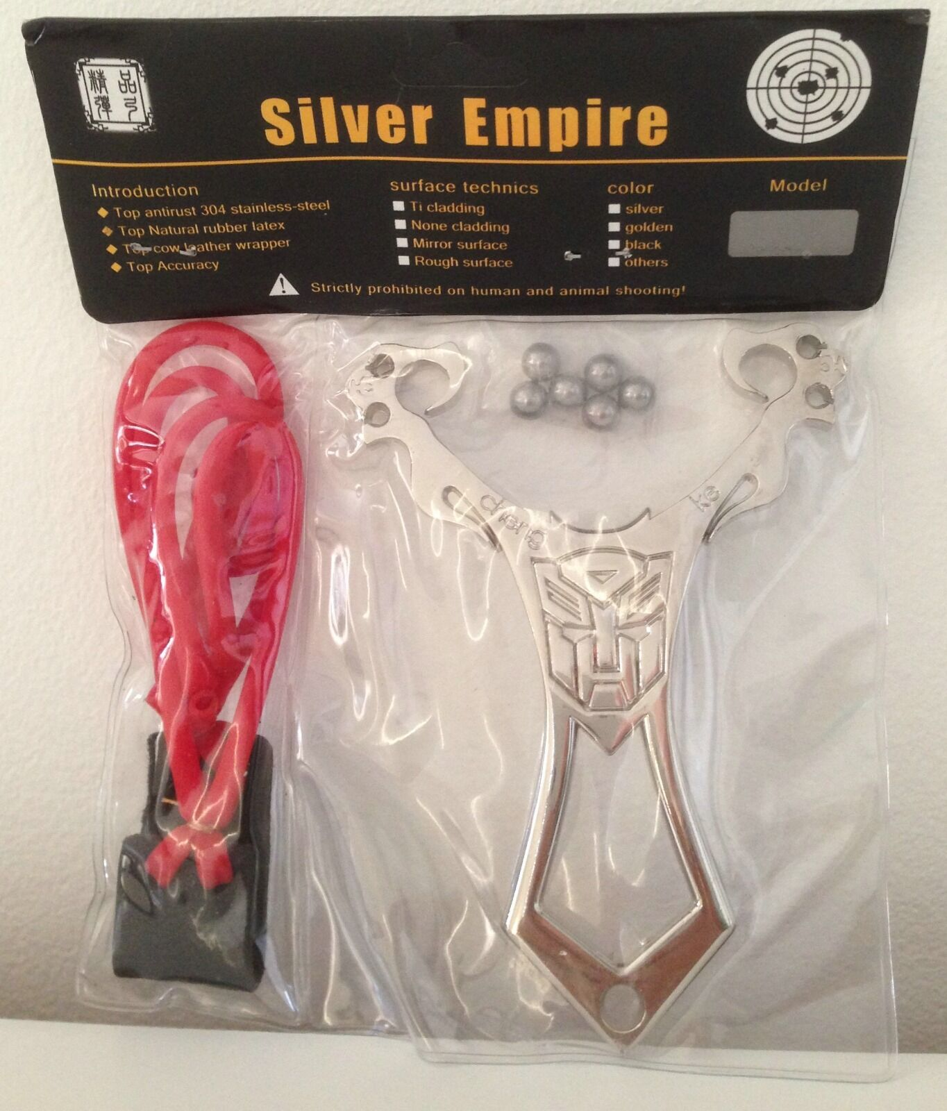 TRANSFORMERS AUTOBOT STAINLESS STEEL FUTURE CATAPULT SLING SHOT RARE COLLECTIBLE