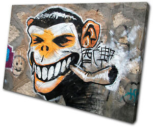 Grafitti Art Illustration SINGLE CANVAS WALL ART Picture Print VA Home, Furniture & DIY