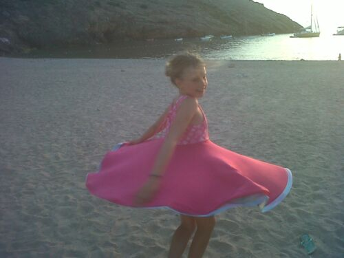FLOWER POWER DRESS New  Girls summer party dress aged 4yrs to 11yrs  AMAIA