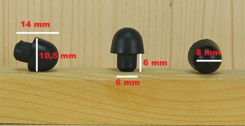 4X PIEDINO in gomma supporto multiuso piede  gommino nero foro 6 mm 4 PEZZI