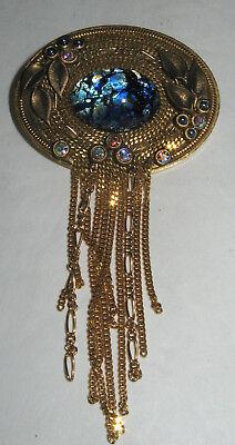 Vintage MARENA Handarbeit Brosche Pin Collier Anhänger Nouveau Design | eBay
